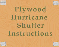 Plywood Shutter Instructions