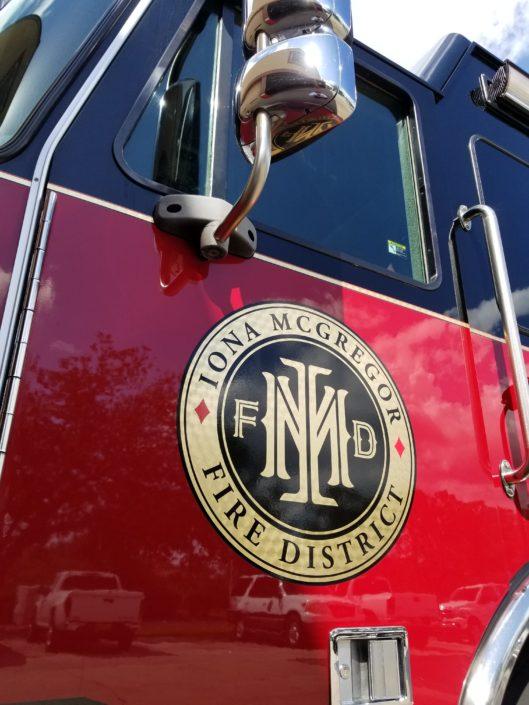 Iona McGregor Fire District Truck