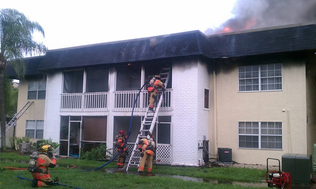 Iona McGregor Firefighters Fighting a Fire