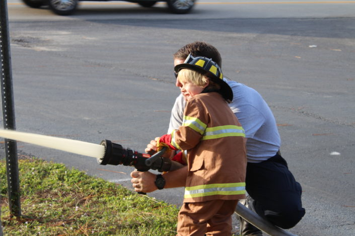 Iona McGregor Firefighters helping the community